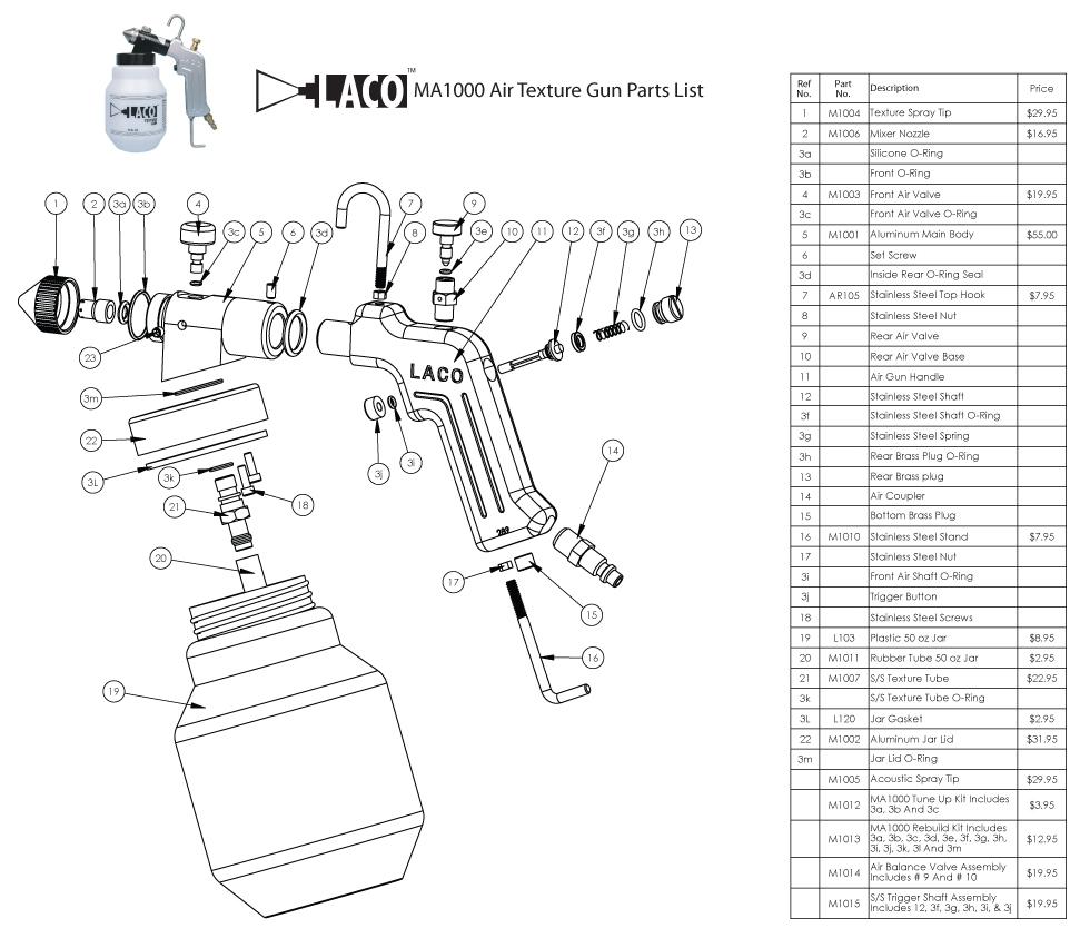 Ma1000 Air Texture Gun